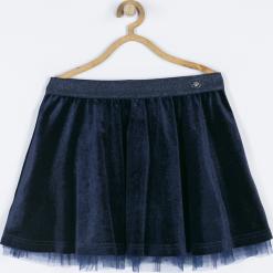 Spódnica. Niebieskie spódniczki dziewczęce z falbankami ELEGANT JUNIIOR GIRL, z nadrukiem, z gumy. Za 89,90 zł.