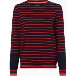 Marc O'Polo Denim - Sweter damski z dodatkiem kaszmiru, niebieski. Niebieskie swetry klasyczne damskie Marc O'Polo DENIM, l, z kaszmiru, z kontrastowym kołnierzykiem. Za 349,95 zł.