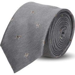 Krawaty męskie: krawat platinum szary classic 218