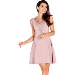 Sukienki hiszpanki: Sukienka w kolorze brudnoróżowym
