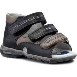 Sandały RENBUT - 11-1409 Granat/Brąz. Niebieskie sandały męskie skórzane marki RenBut. W wyprzedaży za 139,00 zł.