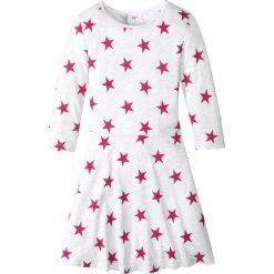 Sukienki dziewczęce: Sukienka bonprix naturalny melanż z nadrukiem