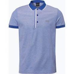 BOSS Athleisurewear - Męska koszulka polo – Paule 4, niebieski. Niebieskie koszulki polo BOSS Athleisurewear, m, z napisami. Za 429,95 zł.