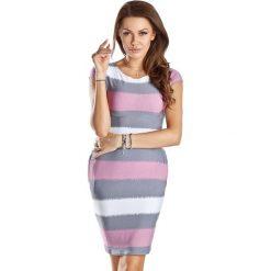 Sukienki hiszpanki: Sukienka w kolorze biało-szaro-fioletowym