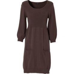 Sukienki: Sukienka dzianinowa bonprix brązowy