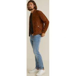 Mango Man - Jeansy Jan3. Niebieskie jeansy męskie regular Mango Man, z bawełny. Za 139,90 zł.