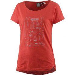 Koszulka w kolorze czerwonym. Czerwone t-shirty damskie OCK, z nadrukiem, z okrągłym kołnierzem. W wyprzedaży za 56,95 zł.