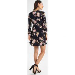 Sukienki hiszpanki: Springfield VESTIDO CRUZADO FLOR Sukienka letnia black