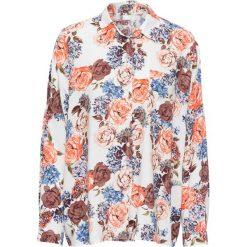 Must have: bluzka koszulowa z nadrukiem bonprix biały w kwiaty. Białe bluzki koszulowe marki bonprix, w kwiaty. Za 37,99 zł.