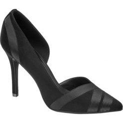Szpilki damskie Graceland czarne. Czarne szpilki marki Graceland, w paski, z materiału. Za 99,90 zł.