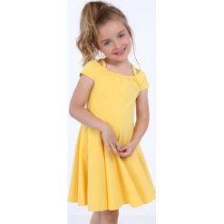 Sukienka dziewczęca na cienkich ramiączkach żółta NDZ8494. Żółte sukienki dziewczęce na ramiączkach Fasardi. Za 49,00 zł.