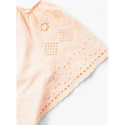 Mango Kids - Top dziecięcy Bangkok 110-164 cm. Różowe bluzki dziewczęce bawełniane marki Mayoral, z okrągłym kołnierzem. W wyprzedaży za 39,90 zł.