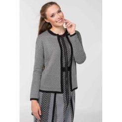 Swetry rozpinane damskie: Sweter z drobnym wzorem