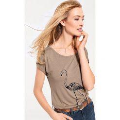Odzież damska: Koszulka w kolorze beżowym