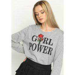 Bluzy damskie: Jasnoszara Bluza Girl Power