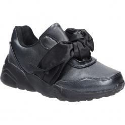 Czarne buty sportowe z kokardą Casu C12033-3. Czarne buciki niemowlęce Casu. Za 49,99 zł.