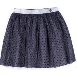 Spódnica. Szare spódniczki dziewczęce z falbankami ELEGANT JUNIOR GIRL, z nadrukiem, z gumy. Za 59,90 zł.
