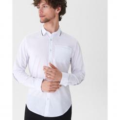 Koszula z ozdobnym detalem - Biały. Szare koszule męskie marki House, l, z bawełny. Za 69,99 zł.