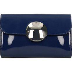 Kopertówka WAGANZA. Niebieskie puzderka marki Gino Rossi, z lakierowanej skóry, do ręki. Za 349,90 zł.