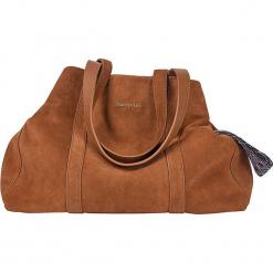 """Skórzany shopper bag """"Skylar"""" w kolorze jasnobrązowym - 53 x 38 x 14 cm. Brązowe shopper bag damskie Marc O'Polo, z materiału, na ramię. W wyprzedaży za 727,95 zł."""