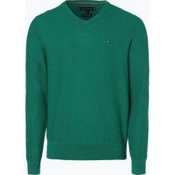 Tommy Hilfiger - Sweter męski, zielony. Czarne swetry klasyczne męskie marki TOMMY HILFIGER, l, z dzianiny. Za 449,95 zł.