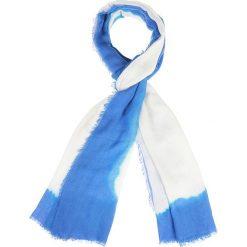 Szaliki damskie: Szal w kolorze niebiesko-białym – 85 x 66 cm