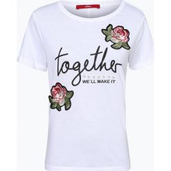 S.Oliver Casual - T-shirt damski, czarny. Czarne t-shirty damskie s.Oliver Casual, s, z aplikacjami. Za 89,95 zł.