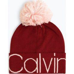 Calvin Klein - Czapka damska, czerwony. Czerwone czapki damskie Calvin Klein. Za 199,95 zł.