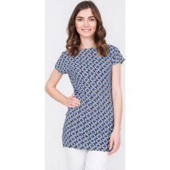 Bluzki damskie: Elastyczna bluzka w geometryczny wzór QUIOSQUE