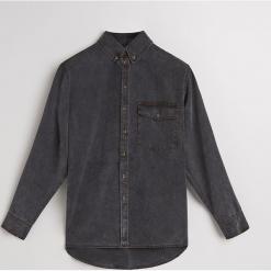 Denimowa koszula z lyocellu - Czarny. Czarne koszule damskie marki Reserved, z lyocellu. Za 259,99 zł.