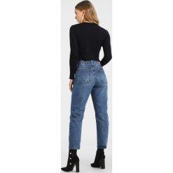 Boyfriendy damskie: Lost Ink Petite Jeansy Straight Leg blue denim