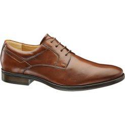 Buty wizytowe męskie: buty męskie do garnituru AM SHOE brązowe