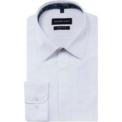 Koszula KARL KDBE000353. Białe koszule męskie na spinki marki bonprix, z klasycznym kołnierzykiem. Za 169,00 zł.
