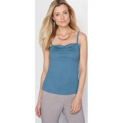 Topy damskie: Top na cienkich ramiączkach, z bawełny i modalu