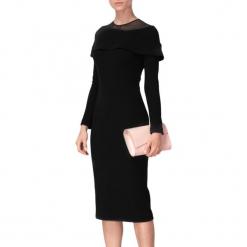 Sukienka w kolorze czarnym. Czarne sukienki na komunię marki BOHOBOCO, z dekoltem na plecach, midi, proste. W wyprzedaży za 959,95 zł.