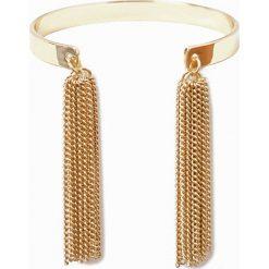 Bransoletki damskie: Metalowa bransoletka z pomponikami