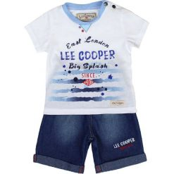T-shirty chłopięce z nadrukiem: 2-częściowy zestaw w kolorze niebiesko-biało-błękitnym