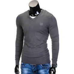 Swetry męskie: SWETER MĘSKI E74 – GRAFITOWY