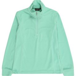 CMP Bluza rozpinana sportowa 'GIRL SWEAT'  miętowy. Zielone bluzy dziewczęce rozpinane CMP, w jednolite wzory, z materiału, z długim rękawem, długie. Za 66,80 zł.