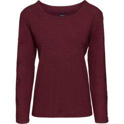 Swetry klasyczne damskie: Sweter z koronkowymi wstawkami bonprix bordowy