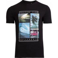 T-shirt męski TSM606 - czarny - Outhorn. Czarne t-shirty męskie Outhorn, na lato, m, z bawełny. Za 39,99 zł.