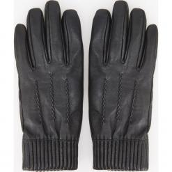 Skórzane rękawiczki - Czarny. Czarne rękawiczki męskie Reserved. Za 119,99 zł.