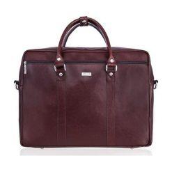 Torba Solier Skórzana torba na ramię laptopa Solier MARCEL Brąz. Brązowe torby na laptopa marki Solier. Za 449,00 zł.
