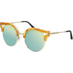 Okulary przeciwsłoneczne damskie: Voodoo Vixen Round Amber Clubmaster Glasses Okulary przeciwsłoneczne żółto-pomarańczowy (Apricot)