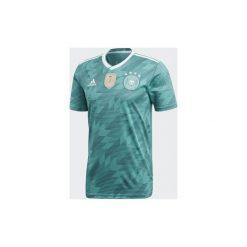 Koszulka krótki rękaw do piłki nożnej Niemcy 2018. Białe t-shirty dziewczęce marki FOUGANZA, z bawełny. Za 239,99 zł.