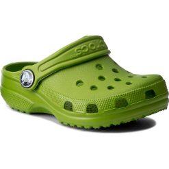 Klapki CROCS - Classic Kids 10006  Parrot Green. Zielone klapki chłopięce Crocs, z tworzywa sztucznego. Za 119,00 zł.