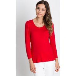 Bluzki asymetryczne: Czerwona klasyczna bluzka  BIALCON