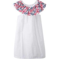 Sukienki dziewczęce: Sukienka letnia bonprix biały