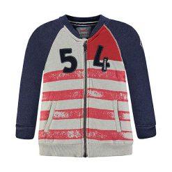 Bluzy niemowlęce: Bluza w kolorze granatowo-czerwono-szarym
