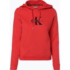 Bluzy damskie: Calvin Klein Jeans – Damska bluza nierozpinana, czerwony